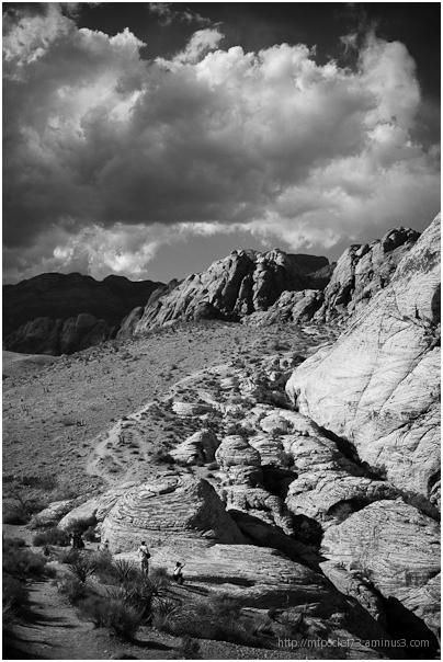Red Rock Canyon 2 - b+w