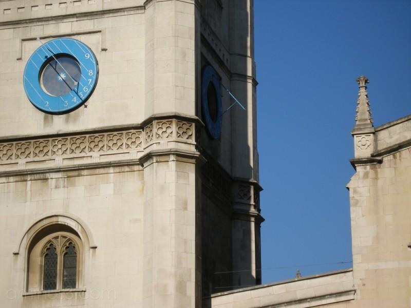london westminister sundial sky