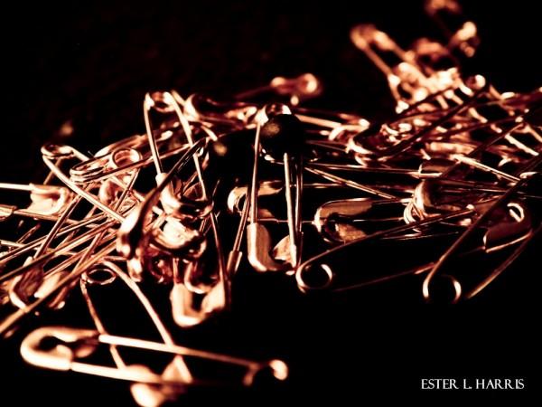 metallic, safety pins, pins