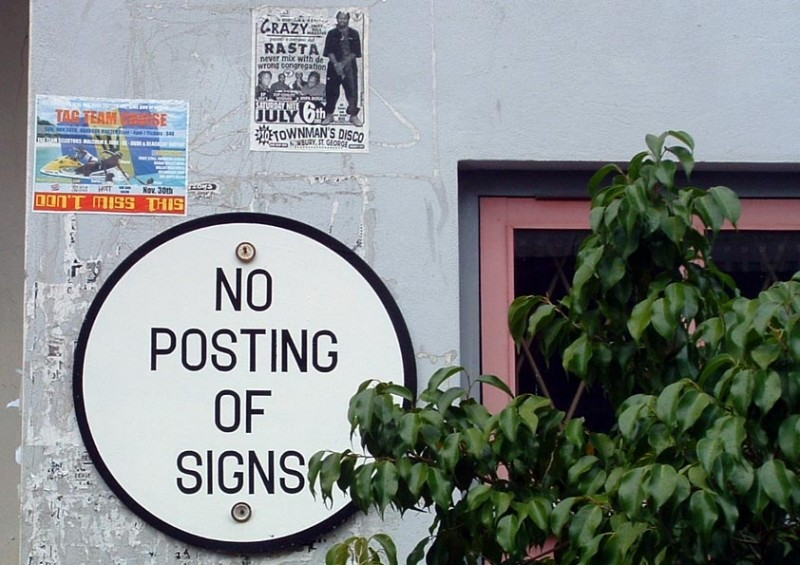No Posting Of Signs