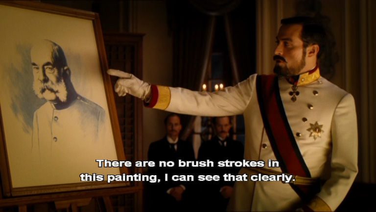 There are no brush strokes in this painting...