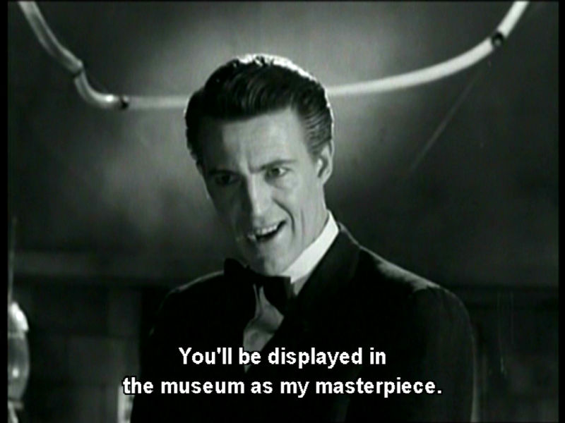 You'll be displayed in the museum...
