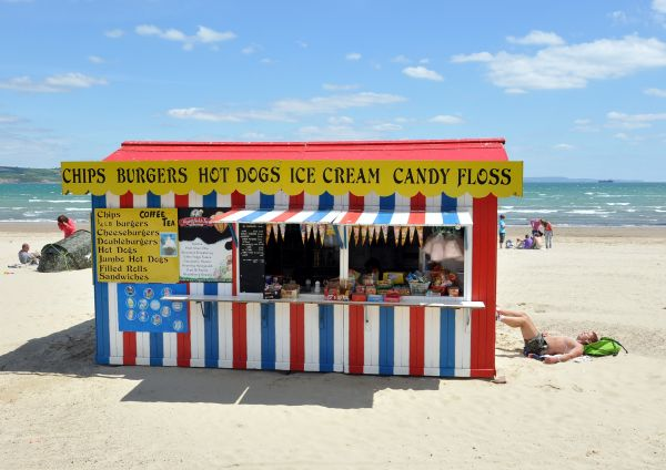 CHIPS BURGERS HOT DOGS ICE CREAM CANDY FLOSS