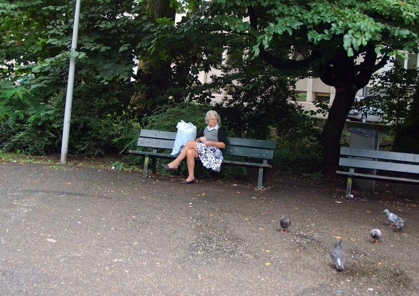 Park bench lady