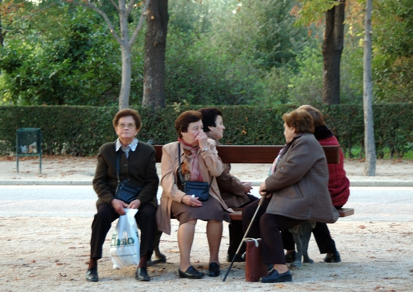 Ladies on a bench