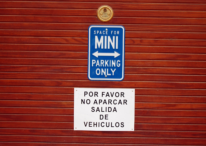 Space For Mini Parking Only