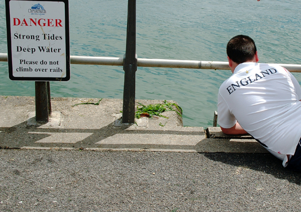 Danger Strong Tides Deep Water... England