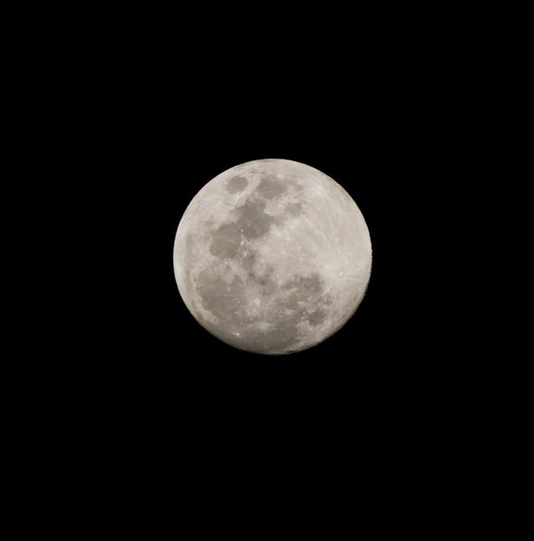 This is the first picture I take of the moon