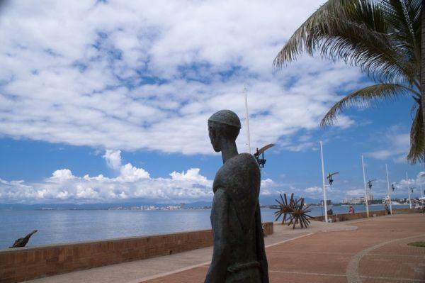 A new  statue in the Boardwalk area