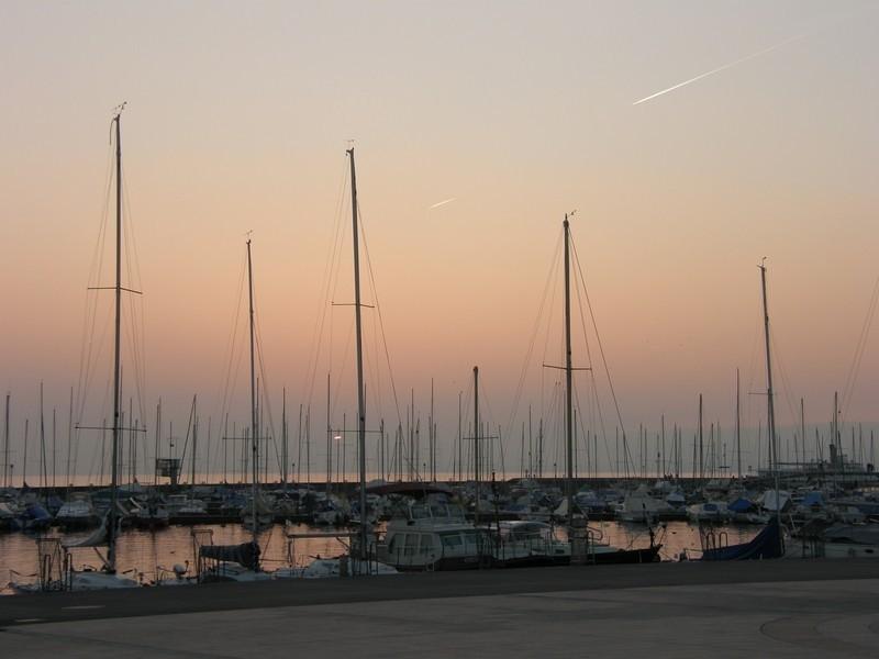 Couché de soleil sur le port