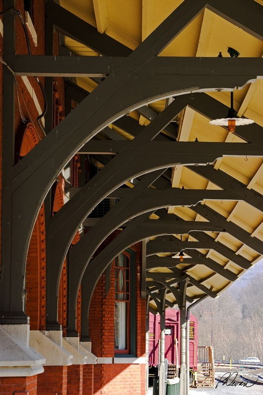 Train Station Roof Detail, Jim Thorpe, PA