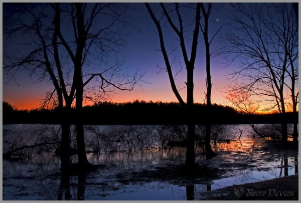 Crescent Moon Over Lake Ontelaunee