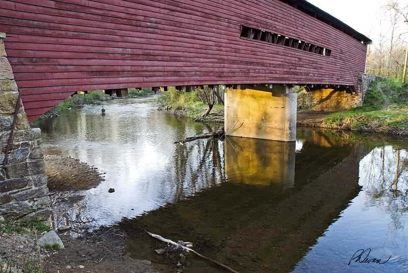 Sheeder-Hall Bridge and Reflection