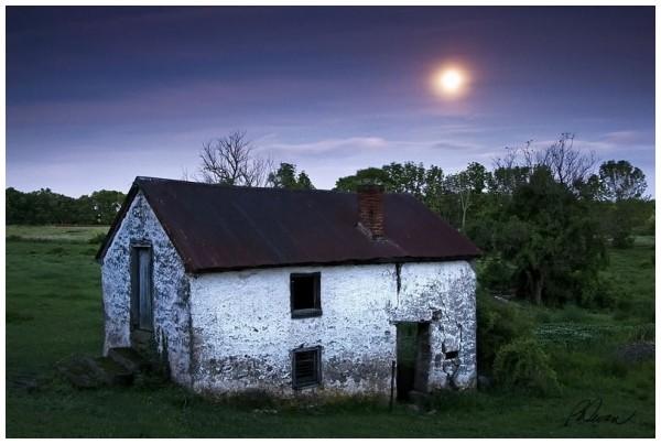 Bertolet Rd. Springhouse by Moonlight