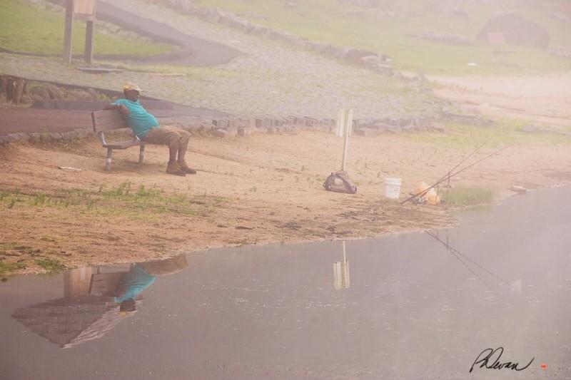 Fishing at Green Lane Park, Green Lane, PA