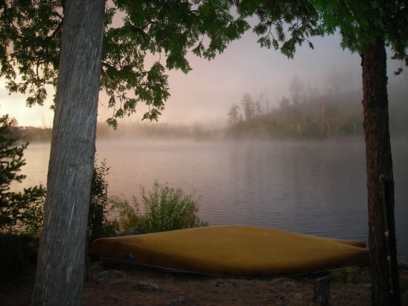 Canoe and Fog