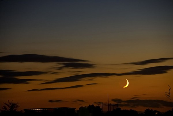 Crescent Moon at Twilight