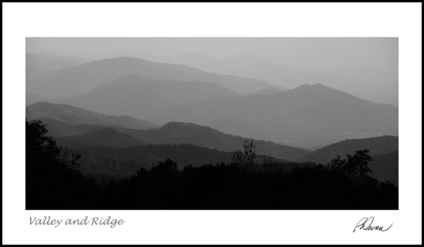 layers of blue ridge mountains in virginia