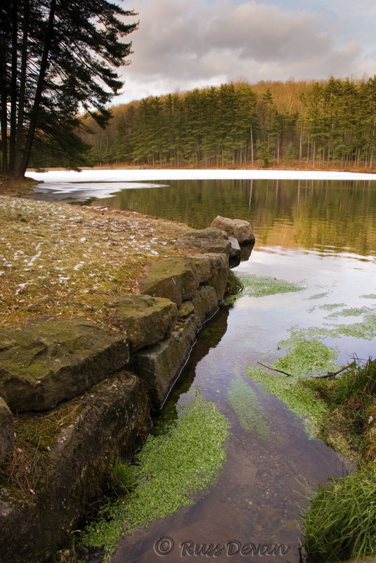 Ice Up on Hay Creek Reservoir