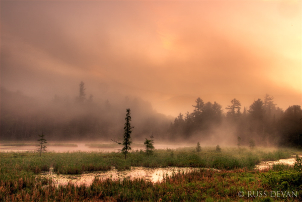 Morning Fog Along The Ausable