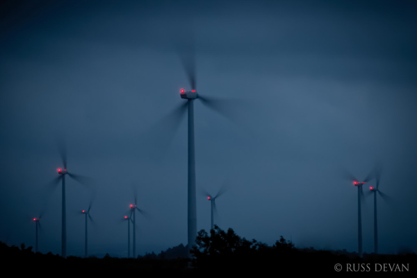 Wind Turbines at Dusk, Allegheny Mountains