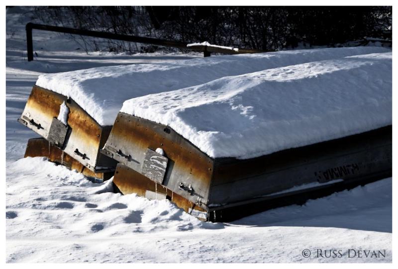 Snowy Boats