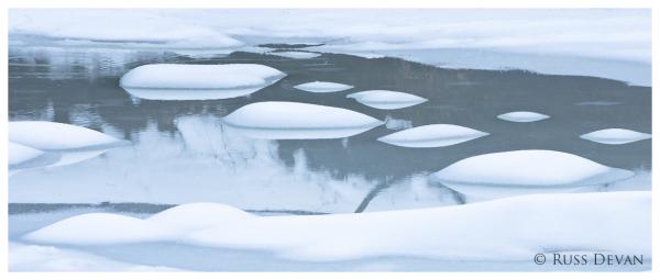 Snow-Covered Boulders, Unami Creek