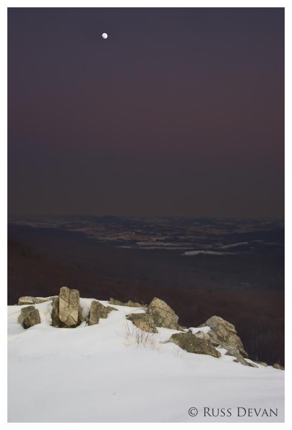 Moonrise at North Overlook, Hawk Mountain