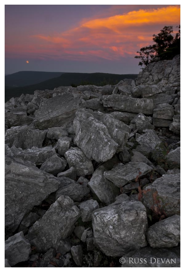 Moonrise at Sunset, Hawk Mountain