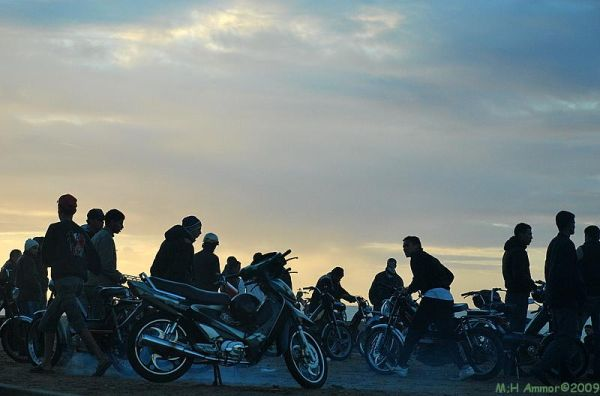Le marché aux motos