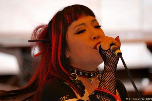 la chanteuse Lamia Cross
