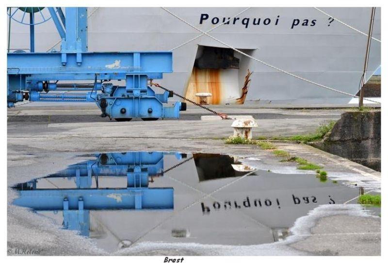 """Le """"Pourquoi pas """" au port de Brest"""