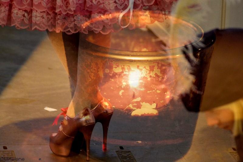 Flammes vacillent