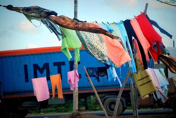 La lessive à la campagne