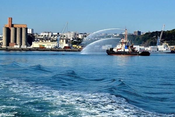 Dans le port de Brest