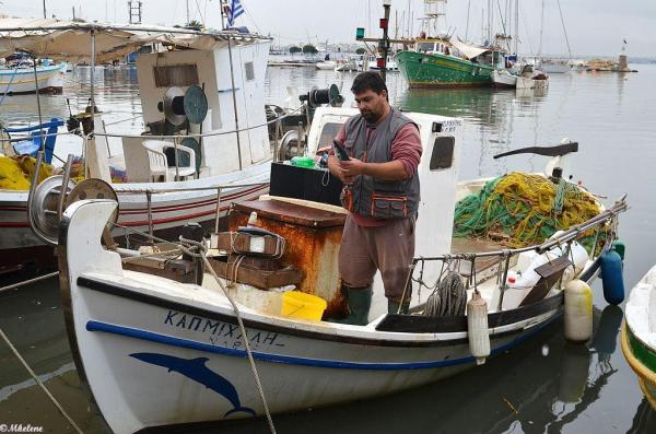 Pêcheur à Mikrolimano