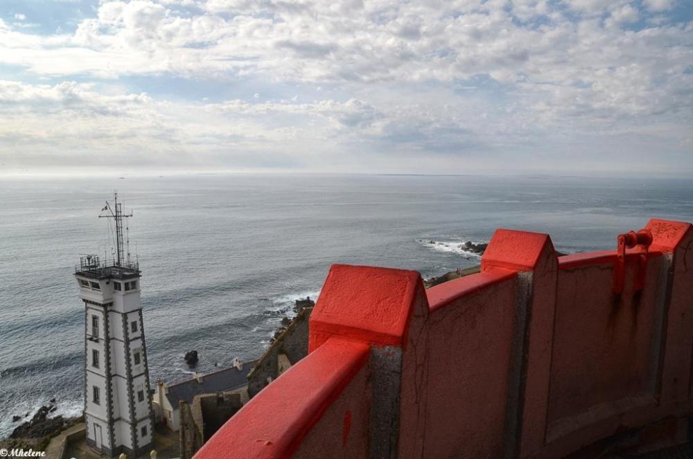 En haut du phare