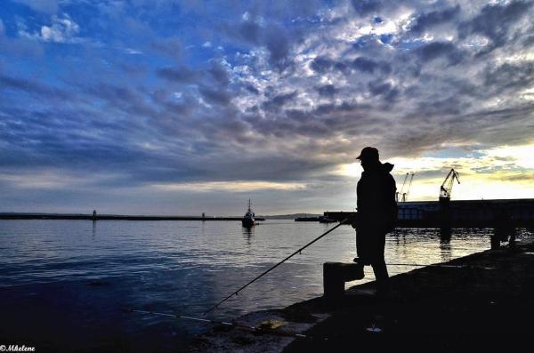 Pêcheur au port