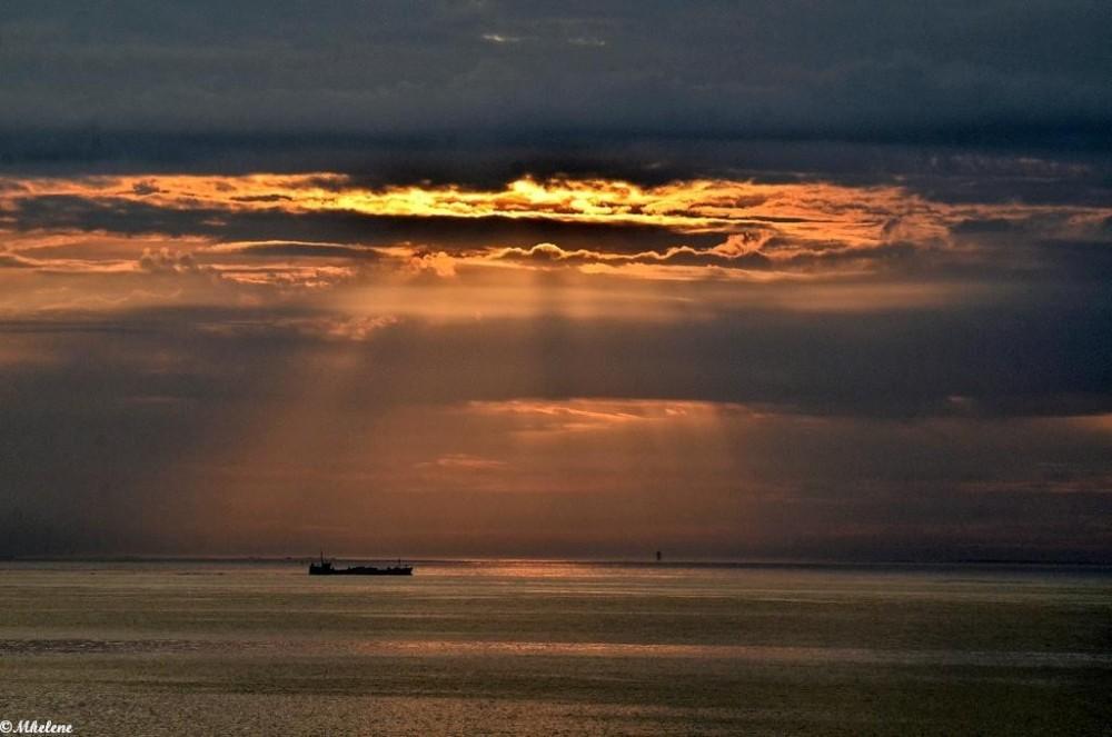 Coucher de soleil en mer d'Iroise