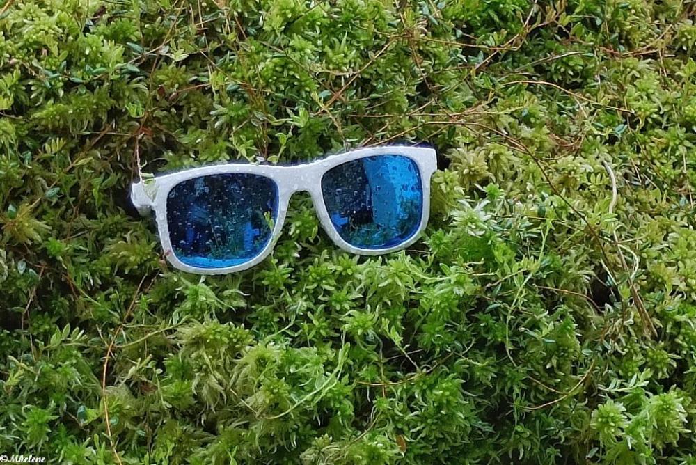 Raining on sunglasses