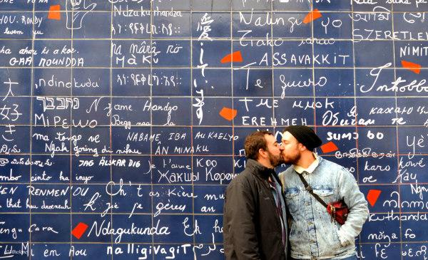 "Le mur des ""Je t'aime""   I love you Wall"