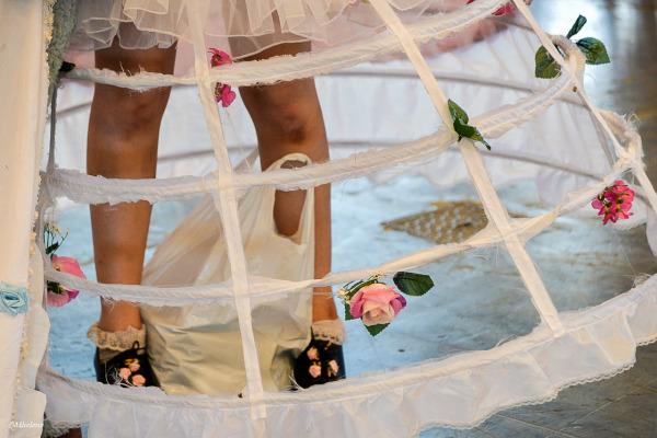 under the skirt