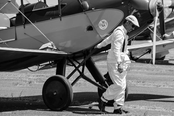 Taking his plane
