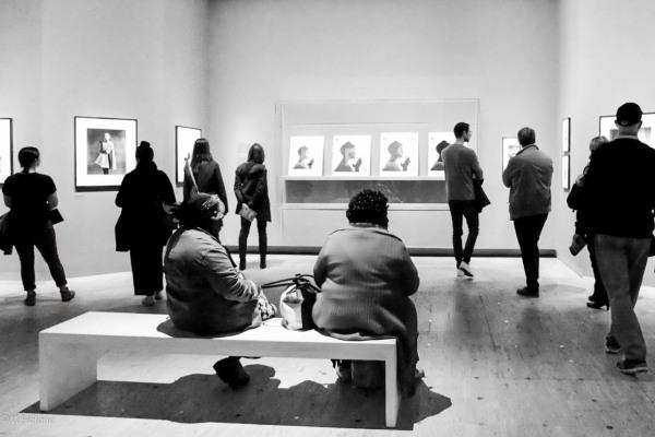 Visiteurs de l'exposition