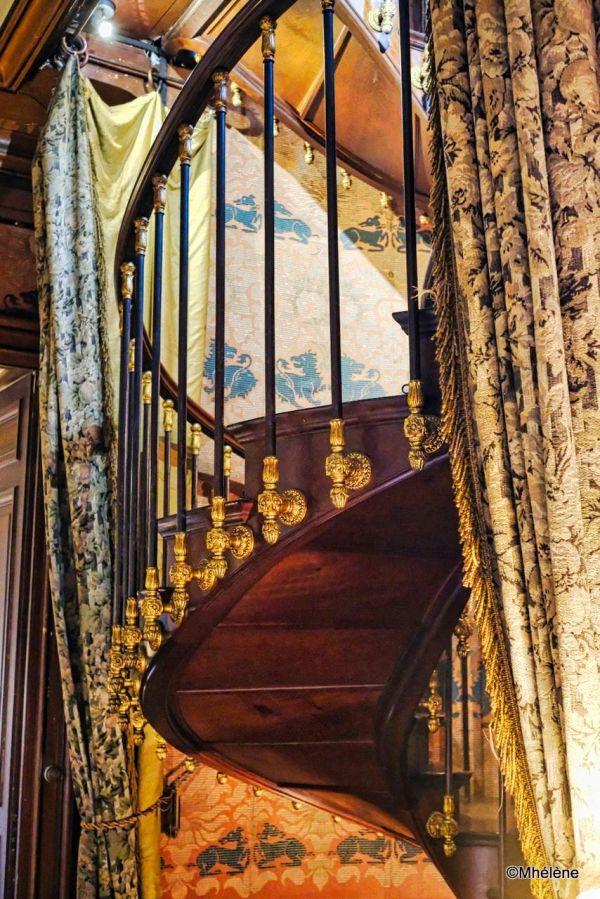 Un escalier du château