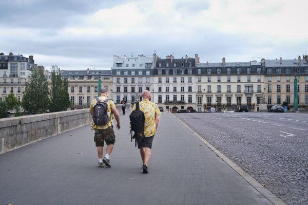 Traversée au Pont du Carrousel