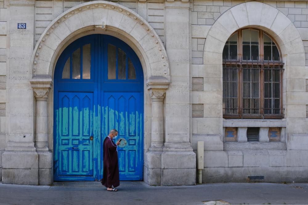 La porte bleue à Ménilmontant