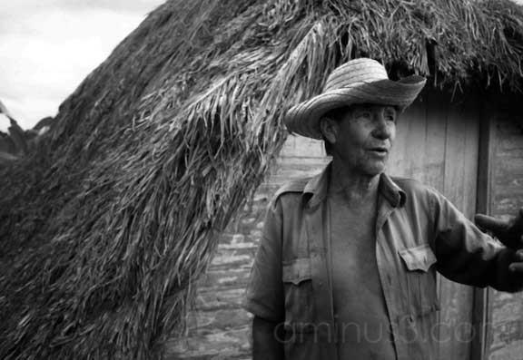 Farmer with hurricane shelter, Cuba