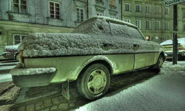 snowed car