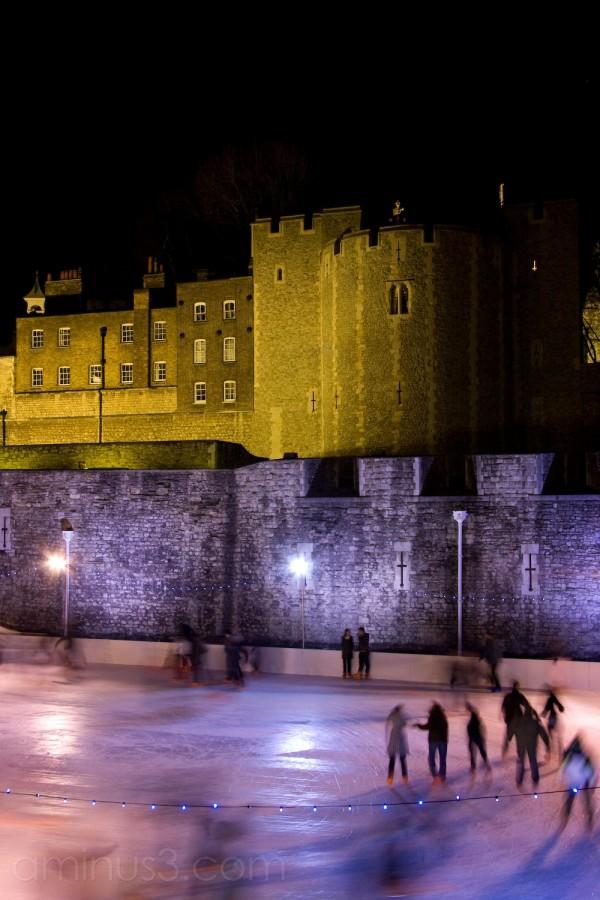 Skating at the Tower of London